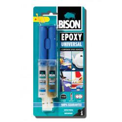 Епоксидно универсално лепило Bison Epoxy Universal ® спринцовка 24 мл / блистер