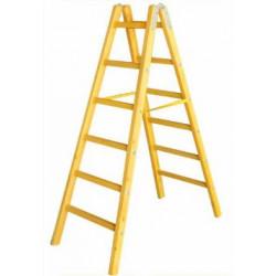 Дървена стълба с 6 стъпала 192 см
