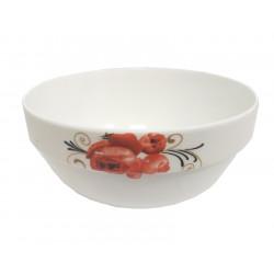 Купа за супа Червено цвете с борд 13см / Т14-29