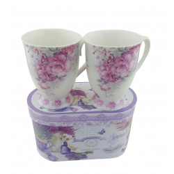 Чаши за мляко Цветя 023707
