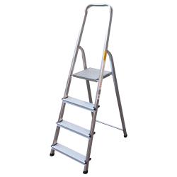 Алуминиева стълба сертифицирана Drabest 125кг / 3+1 стъпала