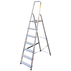 Алуминиева сертифицирана стълба Drabest 125кг / 6+1 стъпала