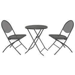 Градински сет 3 части: 1 маса + 2 стола
