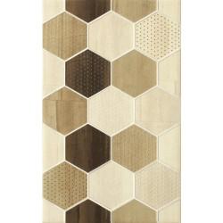 Декоративни плочки Cersanit Mosa Cream Inserto Geo Cubes 25х40