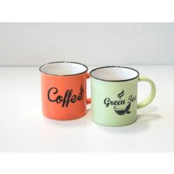 Чаша за кафе / чай с надпис Т25-18 ниска