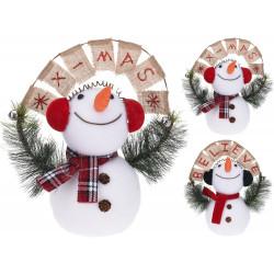 Коледен снежен човек 42см