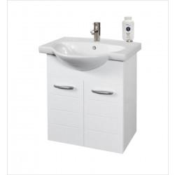 Долен шкаф за баня с умивалник Макена Муки / конзолен