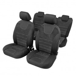 Kомплект калъфки за седалки Индивидуал / черни / 15 броя / 5 отделни седалки