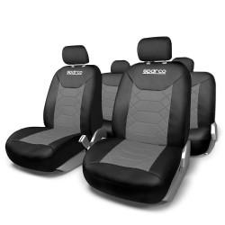 Kомплект калъфки за седалки Sparco 11 части / черно и сиво