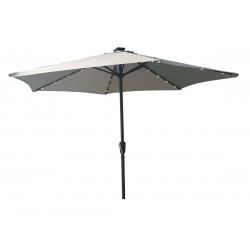 Градински светлосив чадър с LED лампи TLB005-LED-270 My Garden / 2.70м