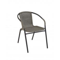 Стол метал / PVC ратан SC-037