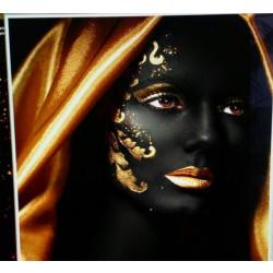 Декоративна възглавница с цип и пълнеж Африка Кърпа 44х44х13см