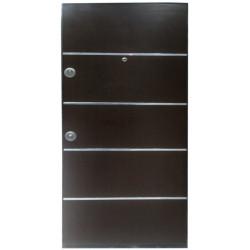 Входна врата серия Composite LP Inox Ceviz Walnut лява 90 х 200