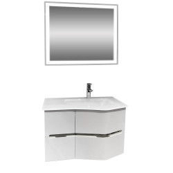 Комплект шкаф за баня с умивалник и LED огледало Макена Севиля