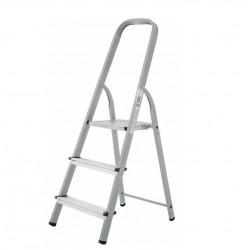 Домакинска стълба желязо/алуминий 2+1 стъпала 150кг