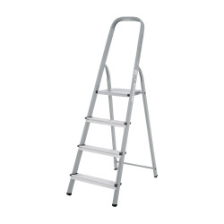 Домакинска стълба 3+1 стъпала 150кг NV желязо/алуминий