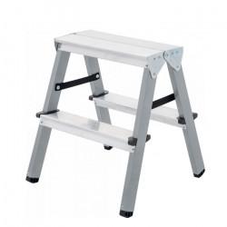 Двустранна домакинска стълба желязо/алуминий 150 кг