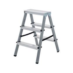 Домакинска двустранна стълба 2х3 стъпала 150кг NV желязо/алуминий