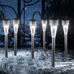 Соларна LED лампа за градина SS-6033S метал