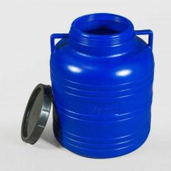 Пластмасов кръгъл бидон с широко гърло Sterk 60 литра