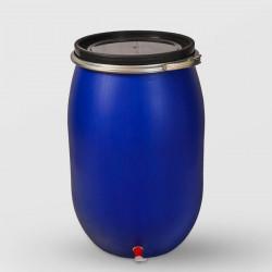 Пластмасов кръгъл бидон с обръч и канела Sterk 120 литра