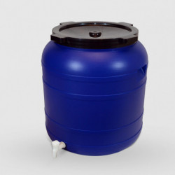 Пластмасов бидон с широко гърло и канела Sterk 150 литра