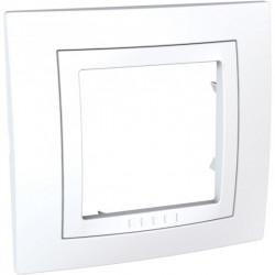 Единична рамка бяла Unica MGU2.002.18