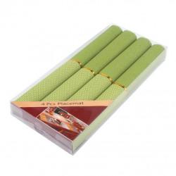 Комплект полиестерни подложки 40x35см зелени квадрати