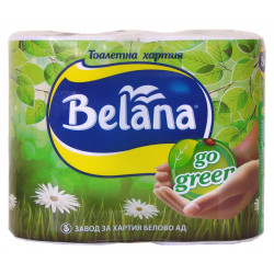 Тоалетна хартия Белана Го Грийн трипластова ароматизирана