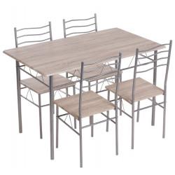 Комплект маса с 4 стола Carmen 20015 дъб сонома