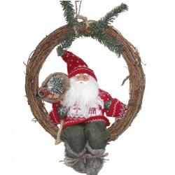 Коледен венец Дядо Коледа 38см