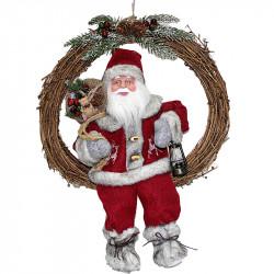 Коледен венец Дядо Коледа 36 см