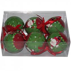 Коледни топки Снежко 6 броя / 7 см