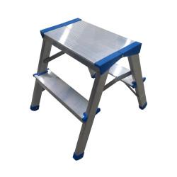 Алуминиева домакинска двустранна стълба Drabest 125кг / 44см