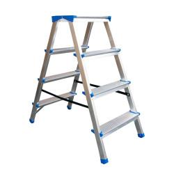 Алуминиева домакинска двустранна стълба Drabest 125кг / 90 см