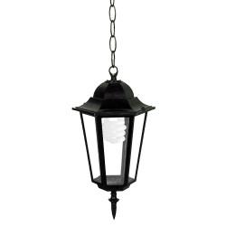 Градински висящ фенер Tino черен E27 60W IP44